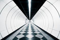 metro stations of vienna.  U3 by Hans Findling, via Behance