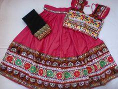 Navratri chaniya choli Designer Indian Pink Lace work by mfussion