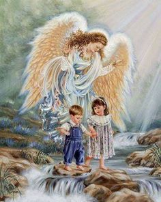 Angel of God, my guardian dear, To whom God's love commits me here, Ever this day, be at my side, To light and guard, Rule and guide. Amen.