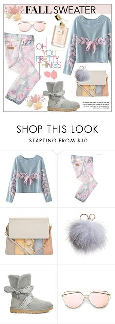 """""""Cozy Fall Sweaters"""" by pat912 ❤ liked on Polyvore featuring Chicnova Fashion, Just Cavalli, Chloé, Dena, UGG, polyvoreeditorial and fallsweaters"""