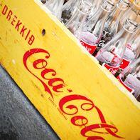 Old coke bottles in Iceland via Beers & Beans