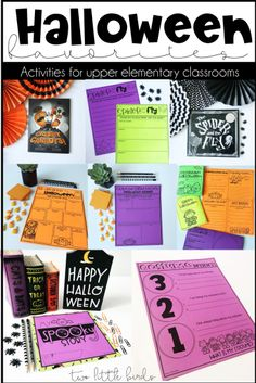 Find fun Halloween themed activities for your upper elementary classroom. Keep students engaged througout October with free activities included. Halloween Math, Halloween Activities, Holiday Activities, Halloween Treats, Upper Elementary, Elementary Teacher, Writing Activities, Classroom Activities, Free Activities