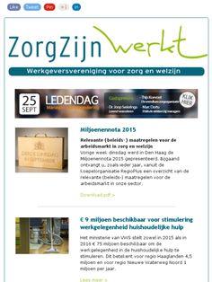 Nieuwsbrief nr 14: ❶ Miljoenennota 2015 ❷ HH-toelage ❸ Zorg & Welzijn Special ❹ SOH Businessclub ❺ Analytics