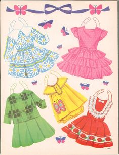 Bonnets and Bows: A Paper Doll Book, 1960 Saalfield #4431 (6 of 12) |