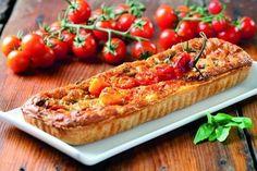 Tomato & mozzarella kish