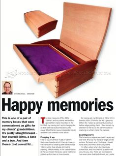 #2261 Memory Box Plans - Woodworking Plans