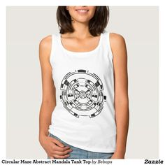 Circular Maze Abstract Mandala Tank Top
