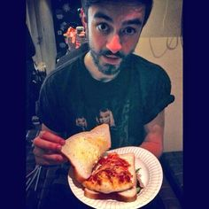 Kyle and his pizza sandwhich, he is such a character but i love him anyways!♥
