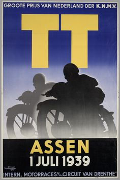 Click any image to enlarge These are samples of Dutch posters from the interwar period of the century. Although there are a few pol. Bike Poster, Motorcycle Posters, Poster Ads, Car Posters, Retro Bike, Retro Motorcycle, Course Moto, Bike Art, Classic Bikes
