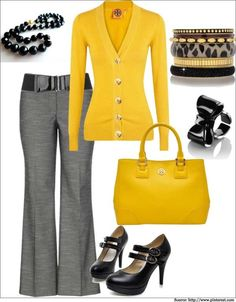 What to wear to work - If you choose to wear a dull #trouser, wear a bright contrasting colour #top to and make your and your colleagues day bright and cheerful.