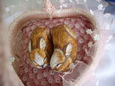 RESERVED FOR CRISTINA. Kissing Bunnies