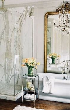 35 Awesome Interior Designs With Using Marble trendy marble bathroom interior design to copy,. - 35 Awesome Interior Designs With Using Marble trendy marble bathroom interior design to copy, - Dream Bathrooms, Beautiful Bathrooms, Marble Bathrooms, Luxury Bathrooms, Beautiful Mirrors, Beautiful Things, Beautiful Pictures, Bath Design, Home Design