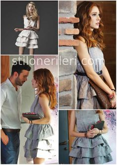 Girl Outfits, Casual Outfits, Fashion Outfits, Little Dresses, Dresses For Work, Brooklyn Blonde, Elcin Sangu, Prettiest Actresses, Fashion Design Portfolio