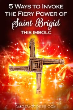 Do you need help igniting your inner fire? Here are 5 ways to invoke the fiery power of Saint Brigid, to help you sweep out old patterns to usher in what Brighid Goddess, Celtic Goddess, Celtic Mythology, St Brigid Cross, Ireland Tattoo, Brigid's Cross, Witchcraft For Beginners, Deep Meditation, Triple Goddess