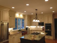 Galley kitchens modern design with recessed lighting fixtures kitchen recessed lighting diy kitchen lighting shallow aloadofball Images