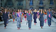 The Chanel spring march, led by Cara Delevingne