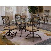 "Pompei 5 Piece Dining Set - Table: 48"" L x 48"" W x 28.5"" H $506"