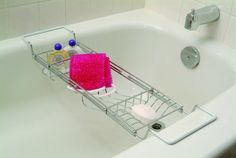 Novel Adjustable Bath Tub Caddy - Beyond the Rack Beyond The Rack, Splish Splash, Beautiful Bathrooms, Bath Time, Bath Caddy, Cozy House, Bathroom Accessories, Diy Furniture, Relax