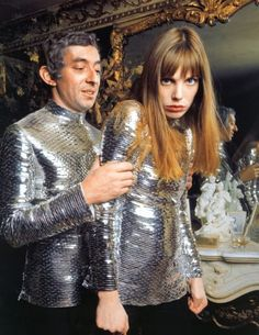 Serge Gainsbourg and Jane Birkin rocking Paco Rabanne in the late 60s