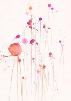 Art Watercolor Painting  Original Watercolor Flower by mallalu, $33.00