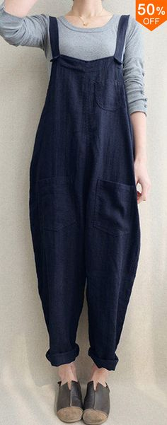 Women Solid Color Linen Cotton Strappy Pocket Loose Harem Jumpsuit.jumpsuit outfit,jumpsuit fashion,denim jumpsuit,bcbg jumpsuit,black jumpsuit,striped jumpsuit,jeans jumpsuit,classy jumpsuit,work jumpsuit,overall jumpsuit,jumpsuit rompers,fall jumpsuit,stylish jumpsuit,jumpsuit casual,jumpsuit dress,jumpsuit strapless,jumpsuit spring,summer jumpsuit.Buy now!