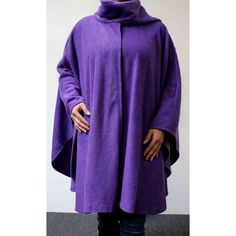 Ultimate Travelers Full Size Plus Size Poncho Cape for Everyone Warm... ($37) ❤ liked on Polyvore featuring outerwear, purple, women's clothing, purple cape, plus size cape coat, plus size cape, poncho cape coat and plus size poncho