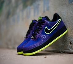 Nike Air Force 1 Low-Court Purple-Black-Volt