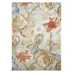 Jaipur Blue Hand-Tufted Petal Pusher Area Rug Aqua Foam - RUG113457