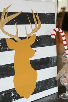 DIY Glitter Reindeer Art I Heart Nap Time | I Heart Nap Time - Easy recipes, DIY crafts, Homemaking