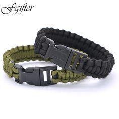 Cool Army Green Survival Bracelet camping essential supplies Sports Cool Women Men Bracelet