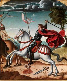 "Juan de Borgoña El Joven (Toledo c. 1500 - Ciudad Rodrigo 1565) ,""Saint James the Great at the Battle of Clavijo"". Photo courtesy Caylus Ant..."