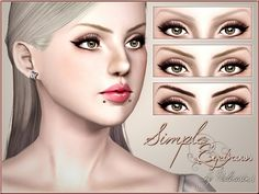 Simple Brows by Pralinesims - Sims 3 Downloads CC Caboodle