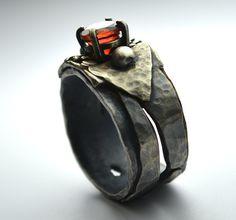Garnet Sterling Silver Ring by Wild Prairie Silver Jewelry
