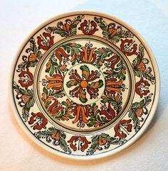 UNIQUE HOREZU CERAMIC Hand-Crafted Decorative Plate