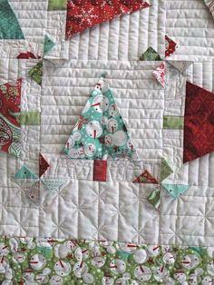 Christmas trees - 3d Moda Basic Grey Jovial