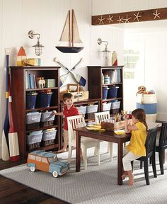 Exactly what we want to do for Jackson's playroom.  It's perfect for him and the room.