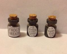 The Nightmare Before Christmas Sally Deadly Nightshade Miniature Dollhouse Jars Set