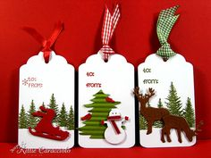 Easy Die and Punch Tags by kittie747 - Cards and Paper Crafts at Splitcoaststampers