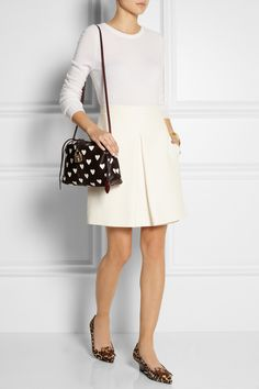 White Heart I Little Crush leather and calf hair #bag by Burberry Prorsum #love