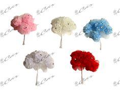 Bouquet roselline in organza con strass
