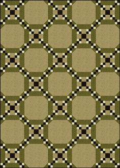 Example of one layout for a batch of Five Patch Chain quilt blocks.