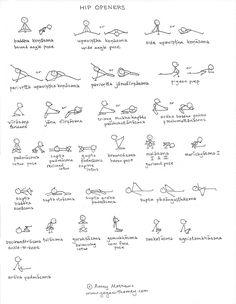 Yin Yoga Sequence, Yoga Sequences, Yoga Stick Figures, Yoga Muscles, Hip Opening Yoga, Yoga Illustration, Yoga Lessons, Asana, Gentle Yoga