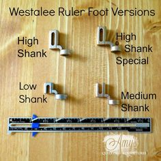 Got to have a ruler foot for using rulers with your free motion quilting! This foot fits nearly all machines. Westalee Ruler Foot Starter Set (Choice of 4 versions) #freemotionquilting