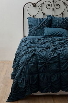 I love this but I would want it in white. 10 Chanel-inspired Home Decor Ideas: Anthropologie Rosette Quilt Set. Dream Bedroom, Home Bedroom, Master Bedroom, Bedroom Decor, Bedrooms, Wall Decor, Bedroom Ideas, Black Bedding, Bright Bedding