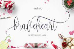 Braveheart ~ Script Fonts on Creative Market