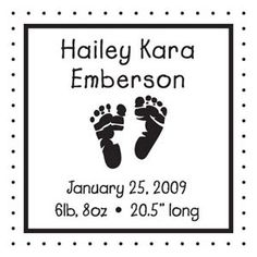 Baby Announcements Custom Stamp - Three Designing Women