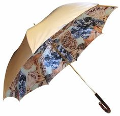 Pasotti Gold Double Canopy Butterflies Umbrella