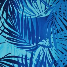 Tropical Leaves Poly Crepe Navy - Fabric - Style Maker Fabrics