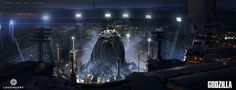 Godzilla Concept Art by Eddie Del Rio