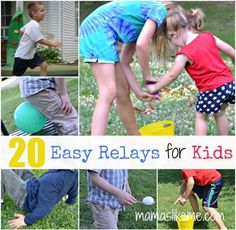 Mamas Like Me: 20+ Relay Races for Kids